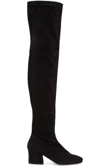 Dorateymur - Black Suede Sybil Leek II Over-the-Knee Boots