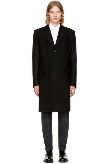 Éditions M.R  - Black Wool Classic Overcoat