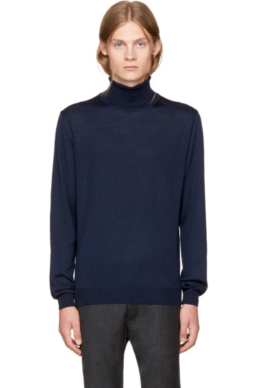 Éditions M.R  - Navy Merino Turtleneck