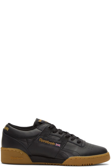 Reebok Classics - Black Workout Low Sneakers
