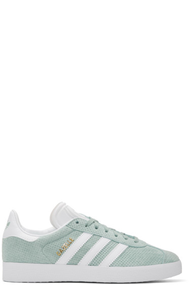 adidas Originals - Green Perforated Gazelle Sneakers