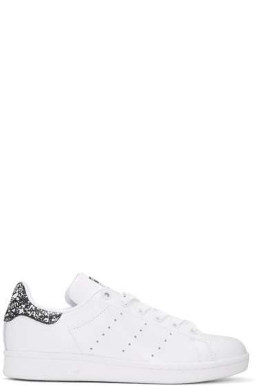 adidas Originals - White & Black Stan Smith Sneakers