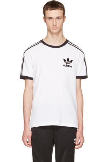 adidas Originals - White & Black California T-Shirt