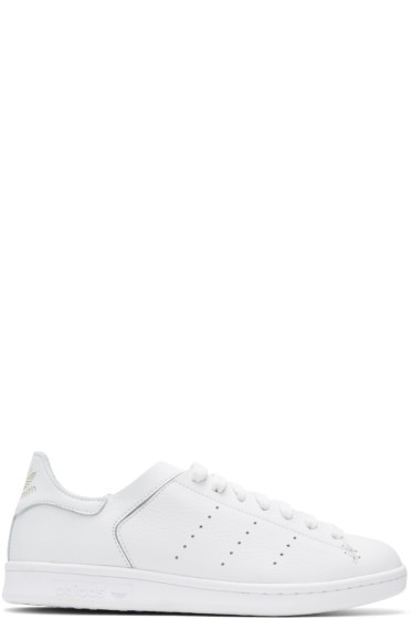 adidas Originals - White Stan Smith Lea Sock Sneakers