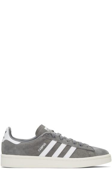 adidas Originals - Grey Suede Campus Sneakers