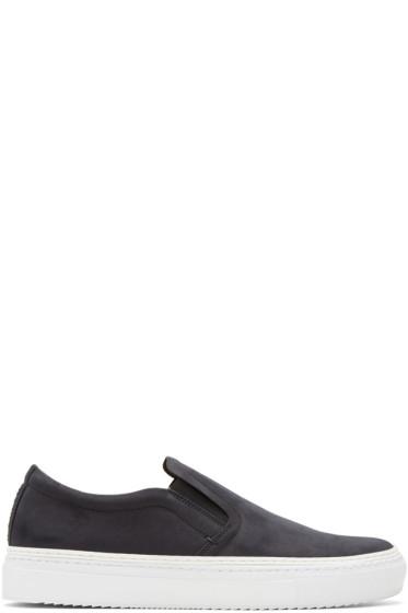 No.288 - Black Houston Slip-On Sneakers