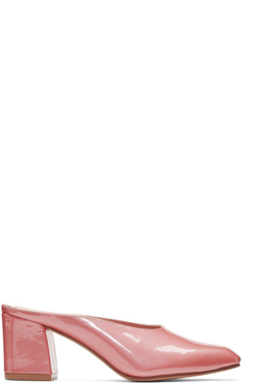 Maryam Nassir Zadeh - Pink Patent Maryam Mules