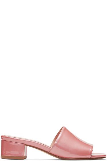 Maryam Nassir Zadeh - Pink Patent Sophie Slides