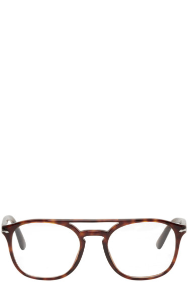 Persol - Tortoiseshell Top Bar Glasses
