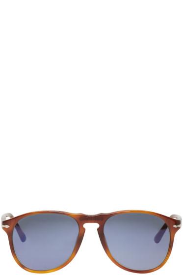 Persol - Tortoiseshell Square Aviator Sunglasses