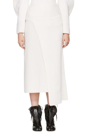 Nehera - Ivory Asymmetric Skirt