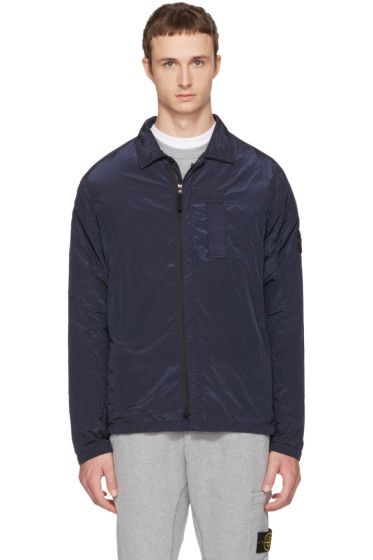 Stone Island - Navy Zip Windbreaker Jacket