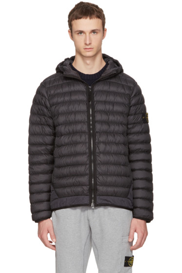 Stone Island - Black Lightweight Hooded Down Jacket