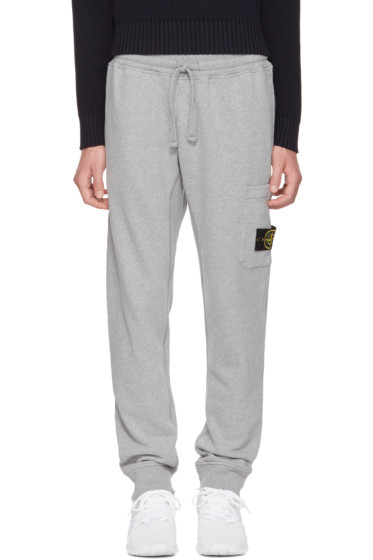 Stone Island - Grey Logo Lounge Pants