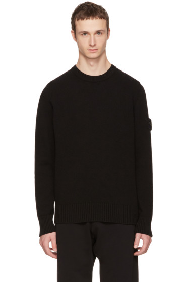 Black Logo Sweater Stone Island