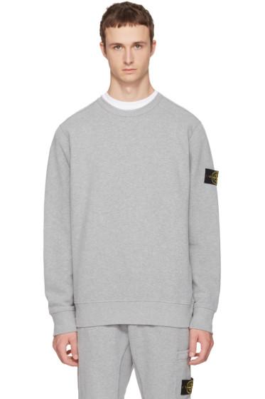 Stone Island - グレー ロゴ スウェットシャツ