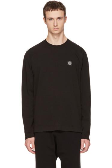 Black Long Sleeve Small Logo T-Shirt Stone Island