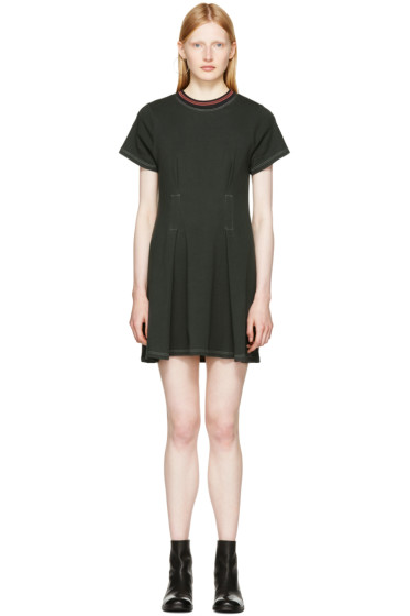 Eckhaus Latta - Black Topstitched T-Shirt Dress