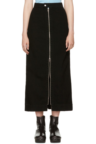 Eckhaus Latta - Black Denim Zip Front Skirt
