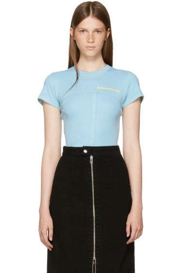Eckhaus Latta - Blue Lapped Baby T-Shirt