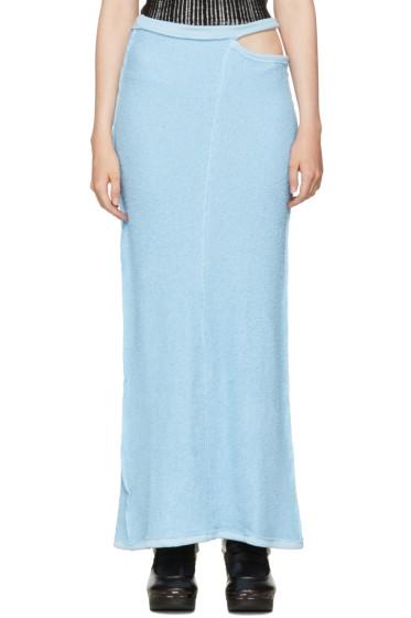 Eckhaus Latta - Blue Lapped Fleece Skirt