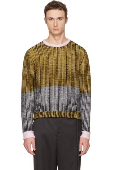 Eckhaus Latta - Black & Yellow Wiggly Road Sweater