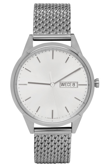 Uniform Wares - Silver Mesh C40 Calendar Watch