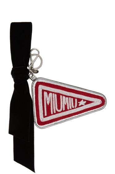 Miu Miu - Red & Silver Emblem Keychain