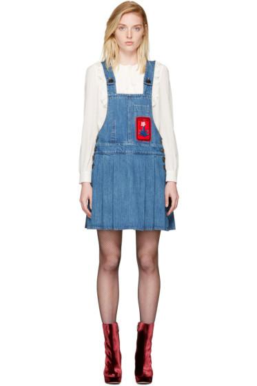 Miu Miu - Indigo Denim Patch Jumper Dress
