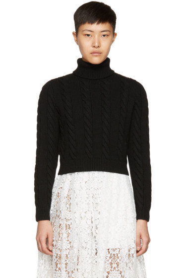 Miu Miu - Black Cropped Turtleneck