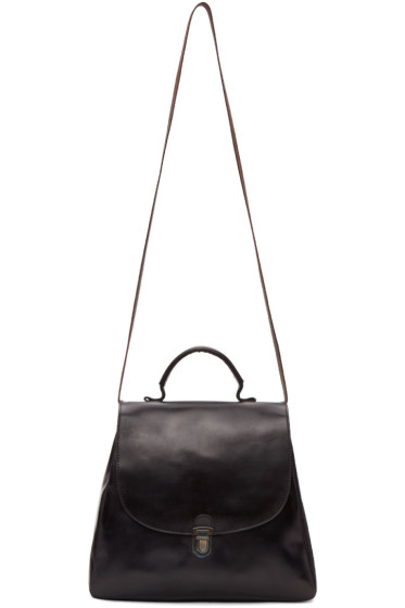 Cherevichkiotvichki - Black Flat Small Lock Bag