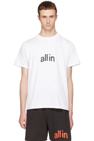 all in - White Champion Edition Logo T-Shirt