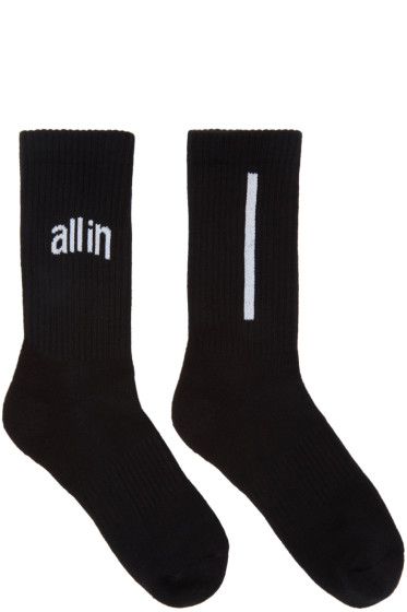 all in - Black Logo Socks