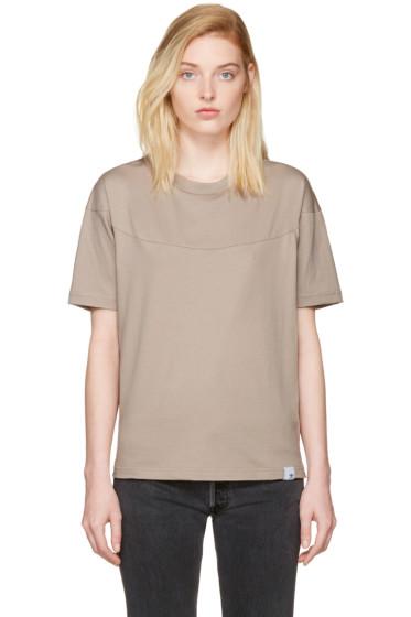adidas Originals XBYO - Taupe Satomi Nakamura Edition Panelled T-Shirt