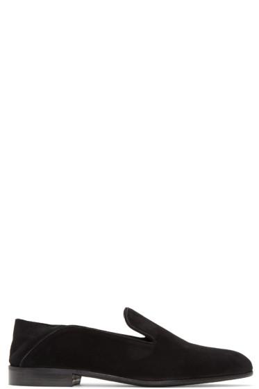 Alumnae - Black Suede Garçonne Step Down Loafers