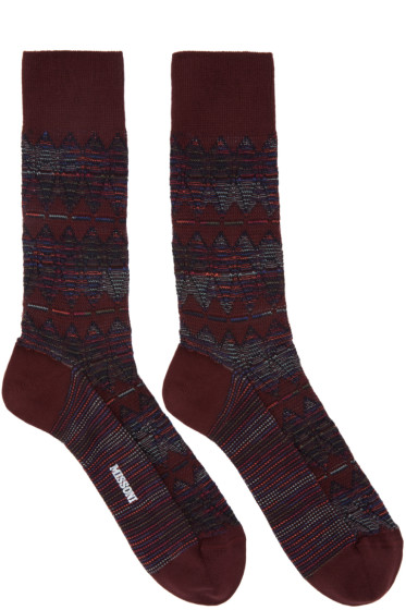 Missoni - Red Print Socks