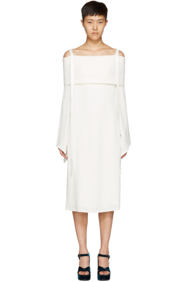Sies Marjan - White Rita Off-the-Shoulder Dress