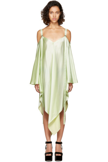 Sies Marjan - Mint Phoebe Off-the-Shoulder Dress