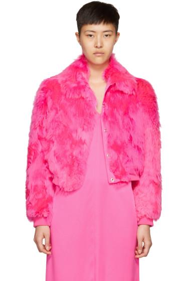 Sies Marjan - Pink Fur Muffy Bomber Jacket