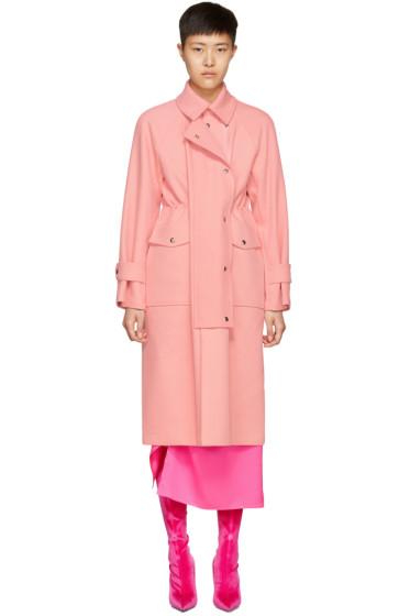 Sies Marjan - ピンク ポケット トレンチ コート