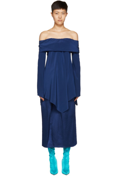 Sies Marjan - Navy Briar Off-the-Shoulder Blouse