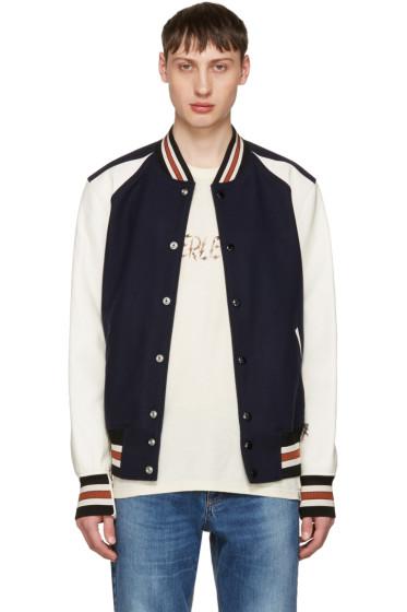Coach 1941 - Navy & Off-White Wool Varsity Jacket