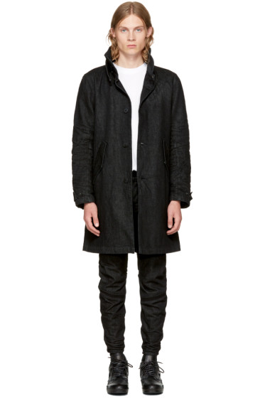 Raw Research - Black Denim Empral Coat