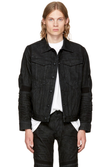 Raw Research - Black Motac 3D Slim Denim Jacket