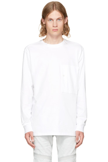 Raw Research - White Long Sleeve Stalt T-Shirt