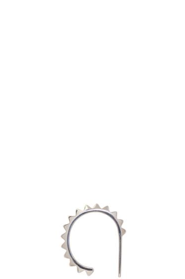 Saskia Diez - Silver Pavé Ear Cuff
