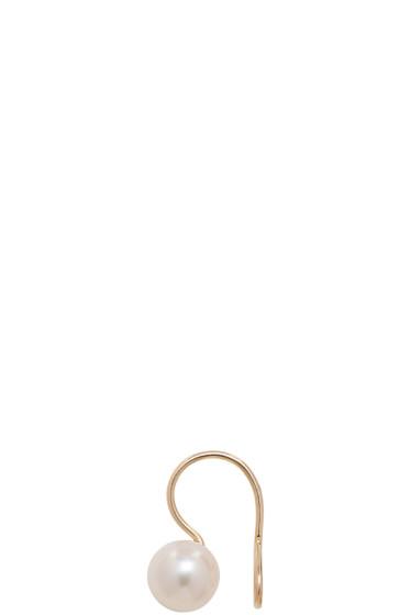 Saskia Diez - Gold Wire Pearl Ear Cuff