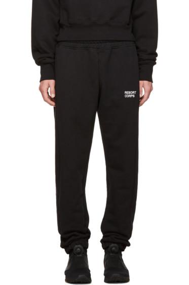 Resort Corps - Black Survetement Lounge Pants