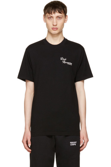 Resort Corps - Black 'Don't Recognise' T-Shirt