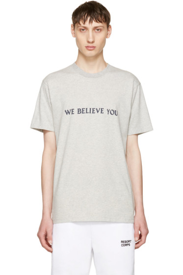 Resort Corps - Grey 'We Believe You' T-Shirt